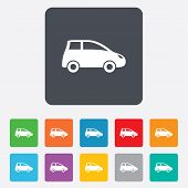 Car sign icon. Hatchback symbol.