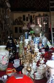 Antique ceramics and other goods in store