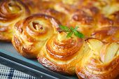Twisted Sweet Buns With Apple
