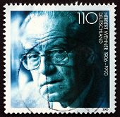 Postage Stamp Germany 2000 Herbert Wehner, German Politician