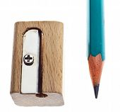 Wooden Sharpener And Pencil