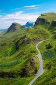 image of landslide  - The beautiful Quiraings on the Isle of Skye, Scotland