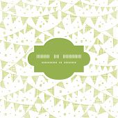 Green Textile Party Bunting Frame Seamless Pattern Background