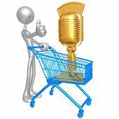Microphone Shopping Cart