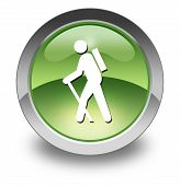 Icon, Button, Pictogram Hiking