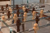 Detail Of Modern Table Football At Homi, Home International Show In Milan, Italy