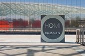 Entrance Sign At Homi, Home International Show In Milan, Italy