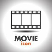 Movie Film Strip Vector Icon