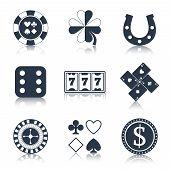 Casino black design elements