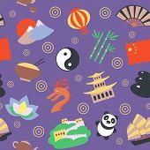 China seamless pattern