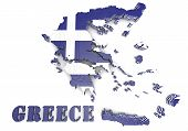 Map Illustration Of Greece With Flag