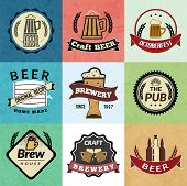 Beer retro labels