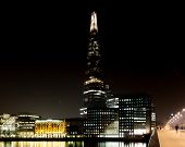 Embankment With Office Buildings At Night, London