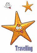 Cartoon ocean starfish character