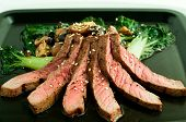 Asian Grilled Steak With Bok Choy