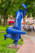 Modern Sculpture In Amsterdam, The Netherlands