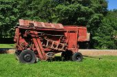 picture of sibiu  - sibiu city romania ethnic museum vintage red thresher - JPG