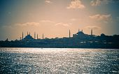Cityscape Of Istanbul / Blue Mosque And Hagia Sofia / Split Toning