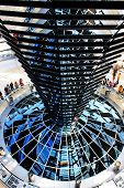 Inside The Reichstag Dome, German