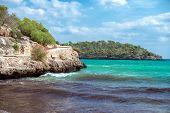 Image Of Beautiful Beach With Algae.