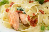 Italian pasta with salmon