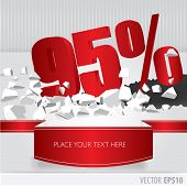 Red 95 Percent Discount On Vector Cracked Ground On White Background