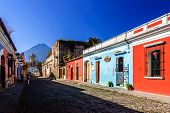 Popular Tourist Street, Antigua, Guatemala