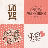 Beautiful love greeting card collection for Happy Valentines Day celebration.
