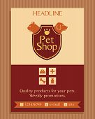 picture of petting  - Vector logo for a pet store in heraldic style - JPG