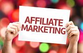 picture of ebusiness  - Affiliate Marketing card with colorful background with defocused lights - JPG