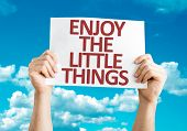 Enjoy the Little Things card with sky background