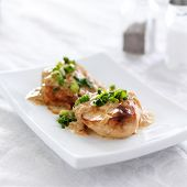 chicken with green onions and creamy sauce
