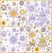 Shrovetide wallpapers with abstract pattern