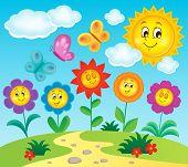 Flower topic image 3 - eps10 vector illustration.