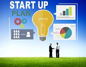 Start Up Launch Business Ideas Plan Creativity Concept