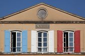 Tricolore city hall in France