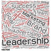 Vector concept or conceptual text word cloud isolated on background, metaphor to advertising, business, company, growth, corporate, identity, innovation, media, management, market, sale or trend value