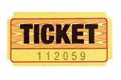 Yellow Admission Ticket