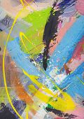 Abstract art - hand painted grunge canvas background with expressive brush strokes