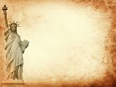 New York City parchment paper background