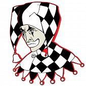 Vector Sad Clown