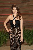 WEST HOLLYWOOD - MAR 2:: Anna Kendrick at the 2014 Vanity Fair Oscar Party on March 2, 2014 in West Hollywood, California