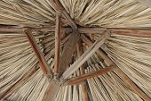 foto of tiki  - Abstract of under side of tiki hut - JPG