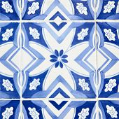 Traditional tiles (azulejos) in Lisbon, Portugal