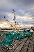 Fishing gear on a pier