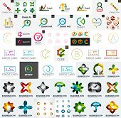 Logo mega collection, abstract geometric business icon set