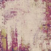 Grunge background with vintage and retro design elements. With different color patterns: yellow (beige); gray; purple (violet); pink