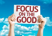 Focus on the Good card with sky background