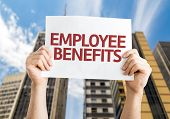 Employee Benefits card with a urban background