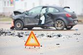 picture of accident emergency  - car crash accident on street - JPG